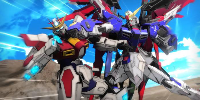 Build Burning Gundam vs Destiny Gundam