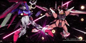 Destiny Gundam vs Infinite Justice Gundam