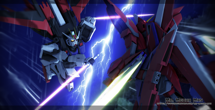 Aile Strike Gundam vs Aegis Gundam