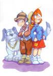 Orson Olivia et leur chien Falstaff