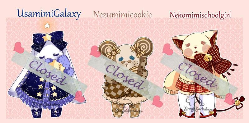 Adoptable Species (Mimis ) Open 1/3 by ShojoJackalope
