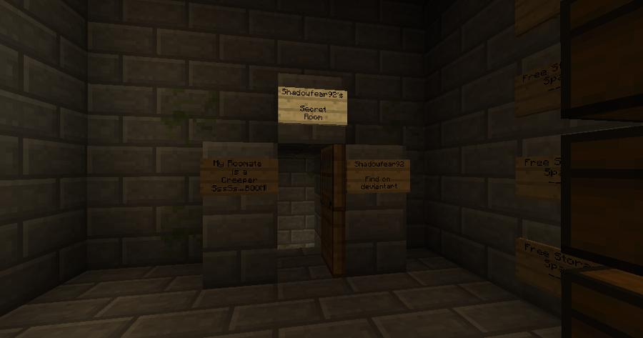 Minecraft Secret Room Design