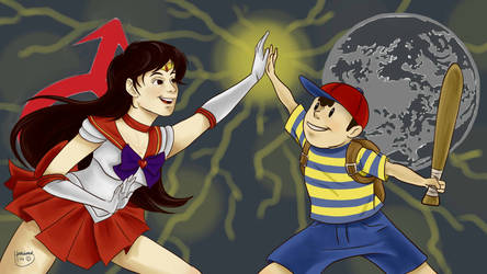 Request: Sailor Mars And Ness by BumbleofBee