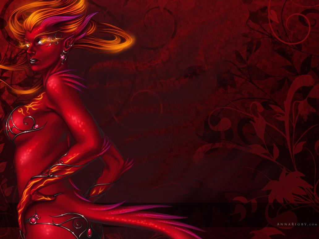 Fire Dragoness Wallpaper by Cyzra on DeviantArt Succubus Art Wallpaper