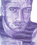 Gerry Butler in Purple Pen