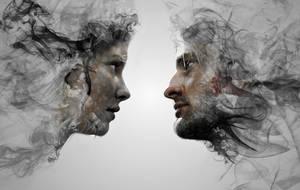 Kate and Sawyer made of smoke