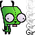 Pixel Gir -dog form- by InvaderMax