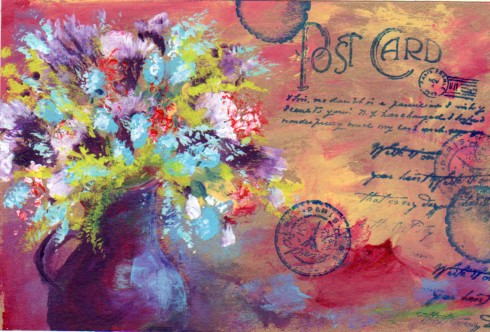 Postcard ~ French Flowers by acallamail