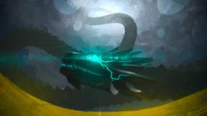 Dark summon Quetzalcoatl by hikaruga