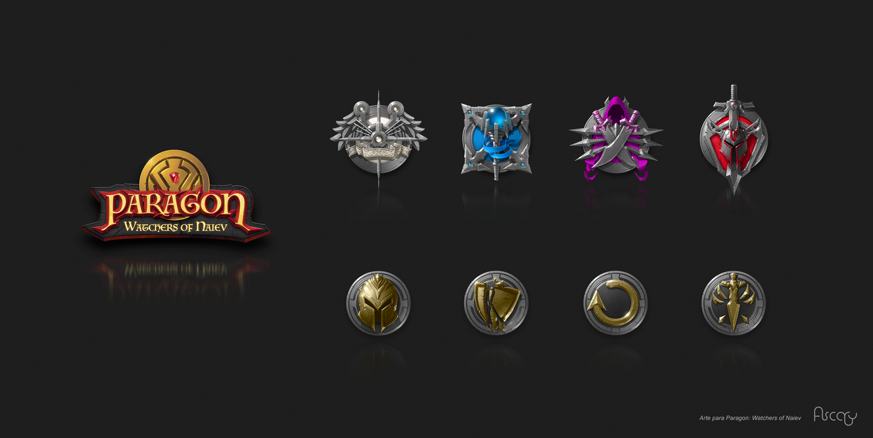 Paragon logo and Icons by hikaruga
