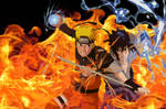 Naruto and Sasuke - Clashing Wills of Fire