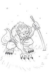 Blades Out - Paladin-Ciel Sketch Request