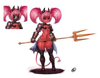 Trident demon (commission)