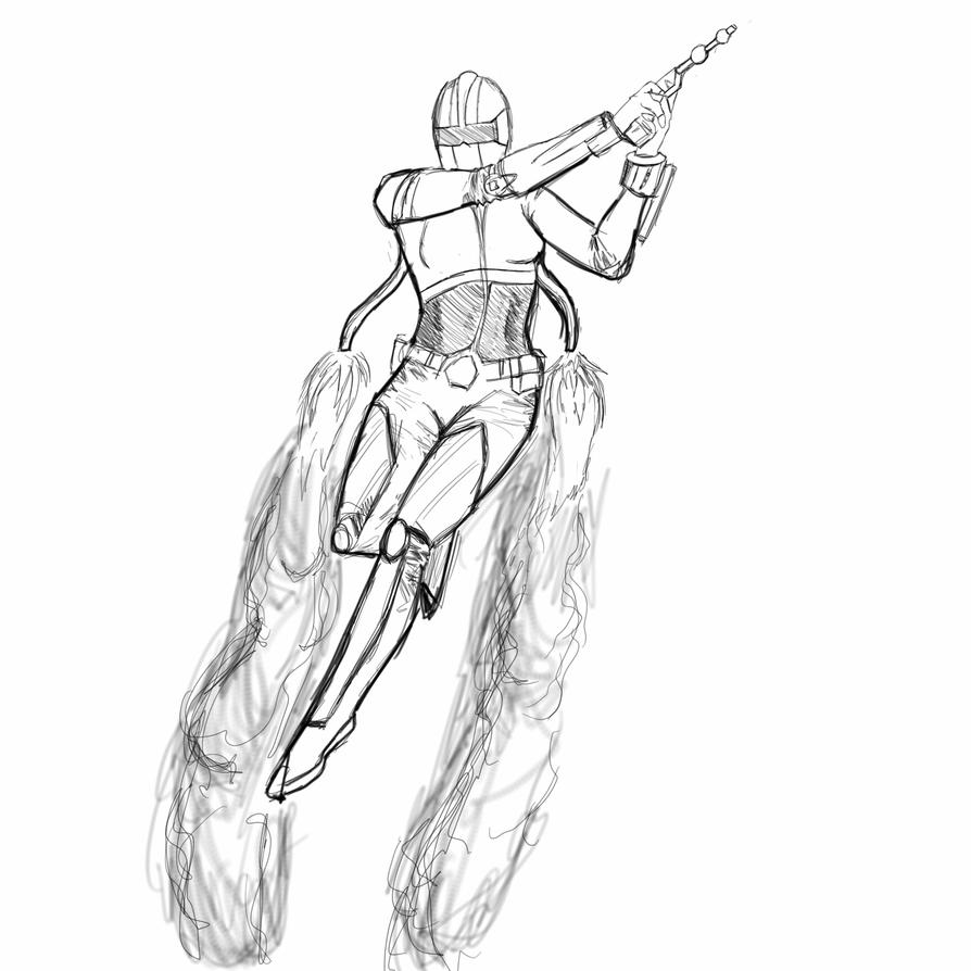 SketchThis_futuristic warrior (incomplete) by Stryde22