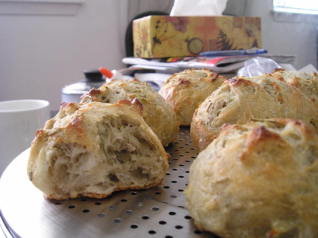Potato Rosemary Rolls - Crumb by LadyApple on DeviantArt