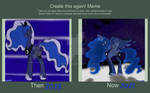 Princess Luna (Before and After) by AlchemyFox