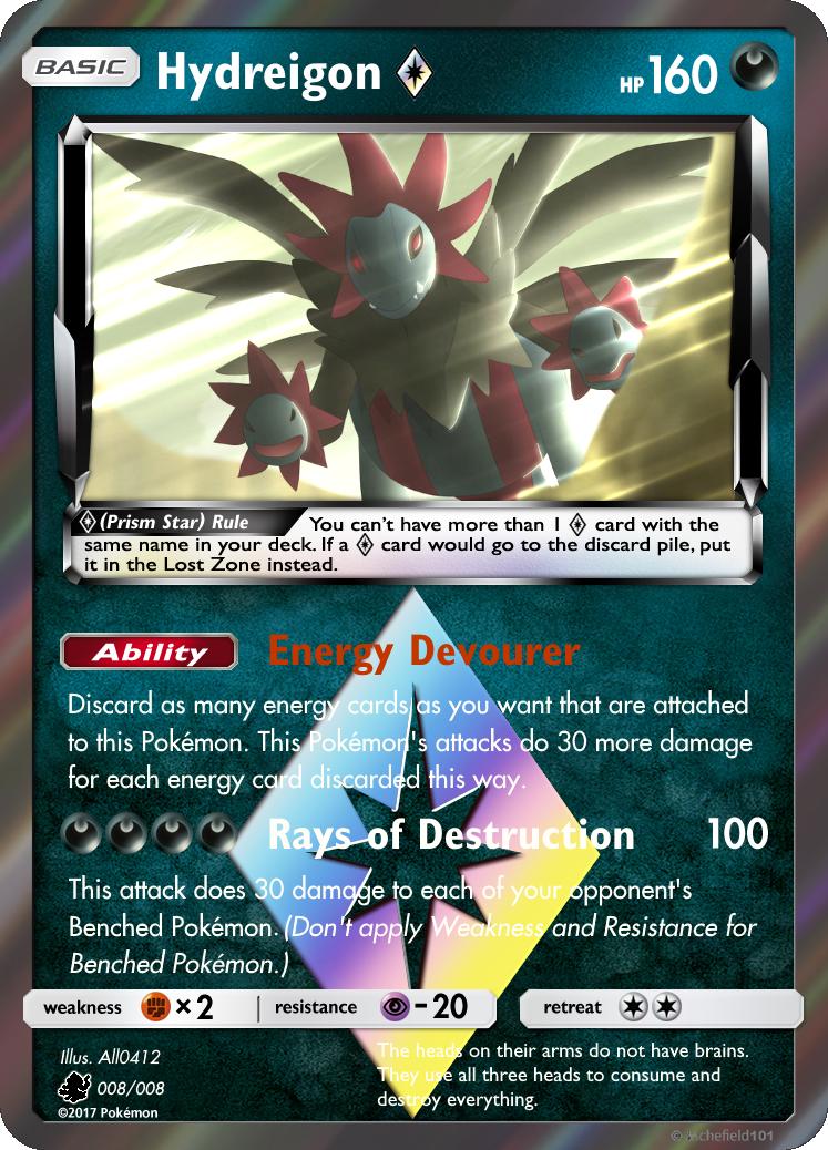 Hydreigon Prism Star by PokemonOmegaandAlpha