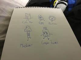 Sketch #1- Some Random Characters by KirbyStar1998