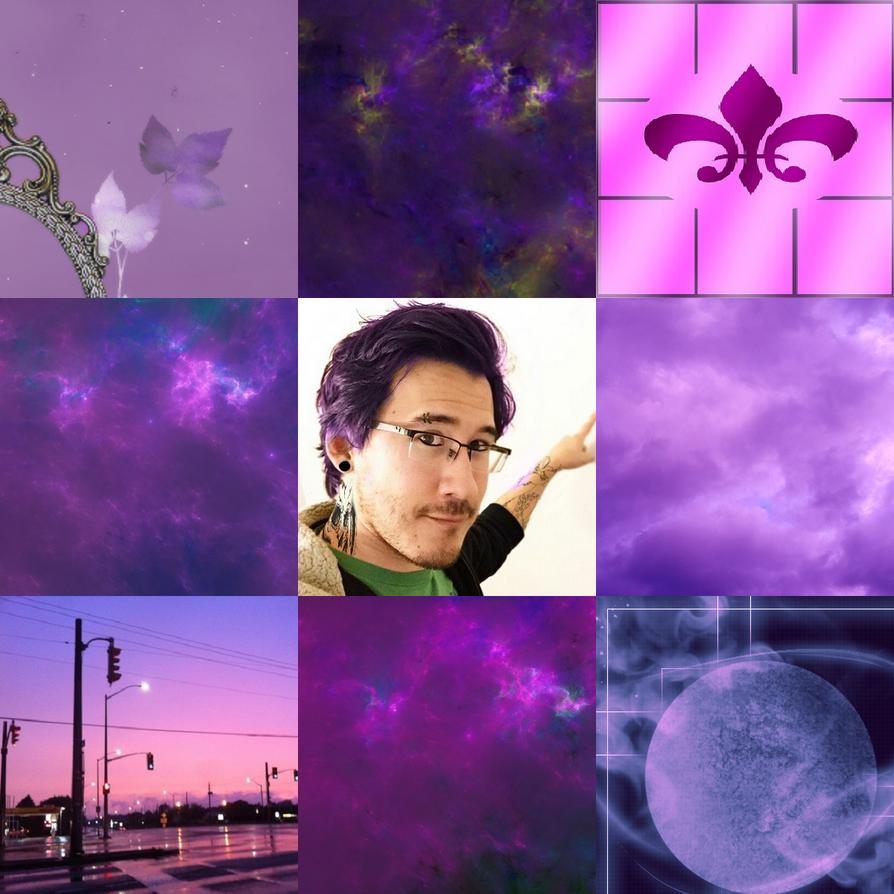 Purple Punk Markiplier Moodboard by HarryTheRipper