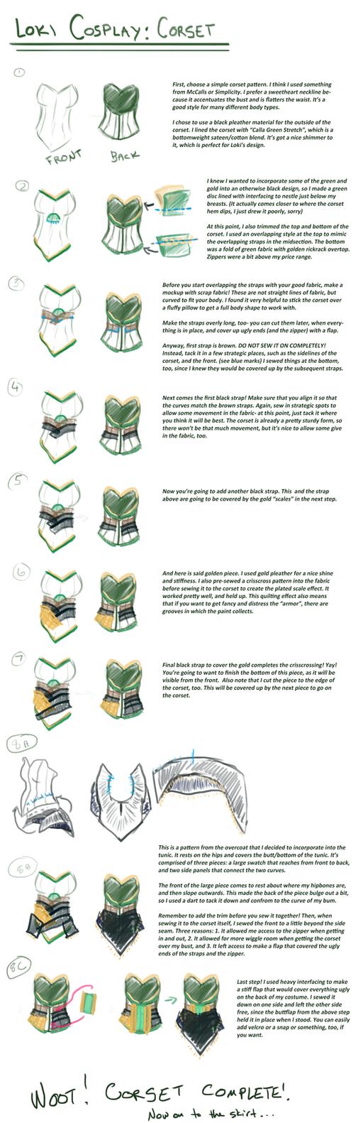 Loki cosplay guide: Corset by SirLadySketch