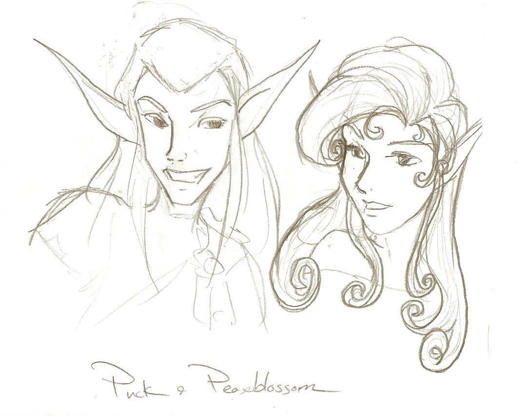 Puck n' Peaseblossom by SirLadySketch on DeviantArt