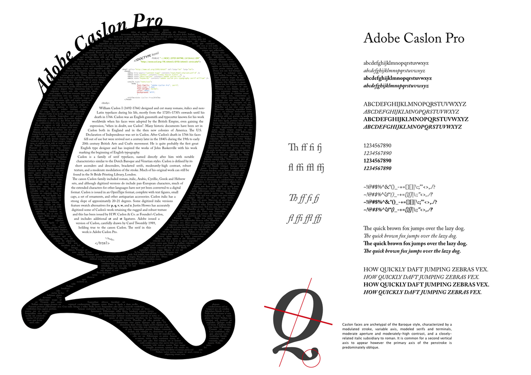 A tribute to Caslon by klepas