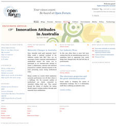 OpenForum portal design by klepas