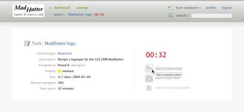 MadHatter task timer by klepas