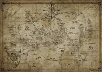 Map of Helleborya by FrancescaBaerald