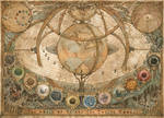 The World of Yr and the Twelve Moons Map