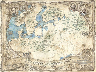 The Great Northern War Map by FrancescaBaerald