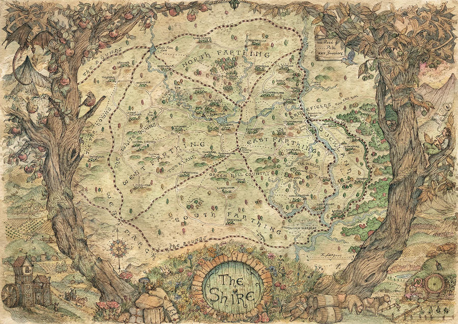 Map Of The Shire Map of the Shire : lotr
