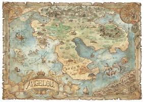 Angelou - Fantasy Map by FrancescaBaerald