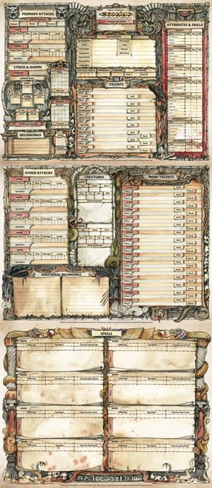 Conan RPG Character Sheet