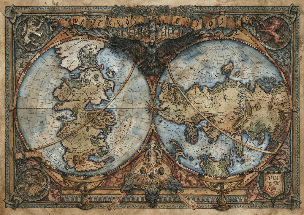 Game of Thrones Map - Westeros and Essos by FrancescaBaerald on ...