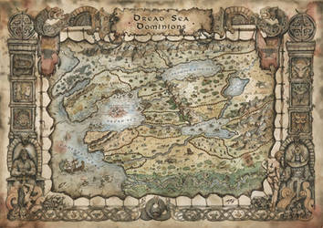 Dread Sea Dominions - Beasts and Barbarians Map by FrancescaBaerald