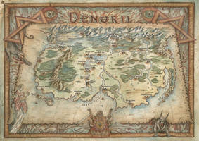 Map of Denoril by FrancescaBaerald