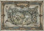 Il Grande Continente di Snaeland RPG Map