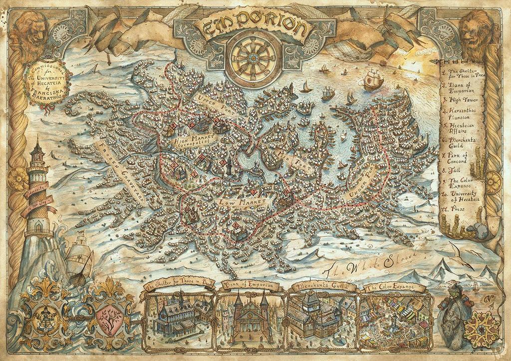 Emporion City Map by FrancescaBaerald