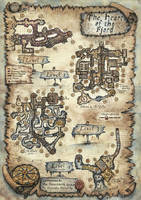 The Heart of the Fjord - Dungeon Map by FrancescaBaerald