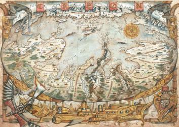 Map of Creon - Total Annihilation: Kingdoms by FrancescaBaerald
