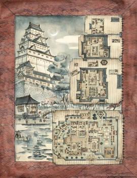 Castle of the Bright Dawn - L5R Map