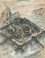 Temple of Virtuous Thunders Map - L5R by FrancescaBaerald