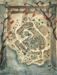 Lost Monk Road Station Map - L5R RPG by FrancescaBaerald