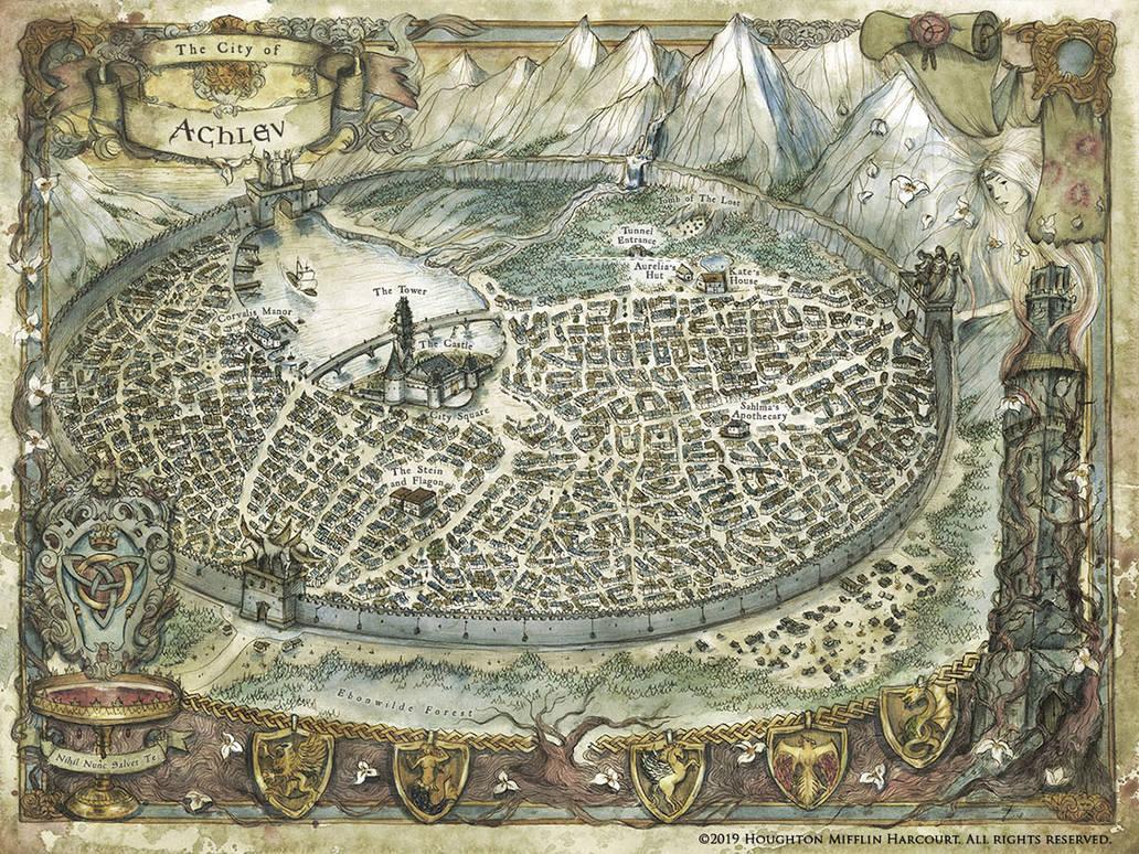 Map of Achlev - Bloodleaf by FrancescaBaerald