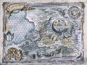 Map of Vallonay by FrancescaBaerald