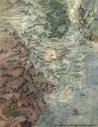 L5R RPG Shadowlands Map by FrancescaBaerald