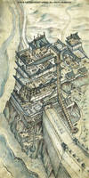 L5R RPG Watch Tower of Iron Duty Map by FrancescaBaerald