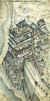 L5R RPG Watch Tower of Iron Duty Map