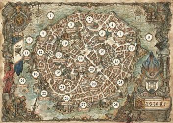 Map of Bastone - Oathsworn by FrancescaBaerald